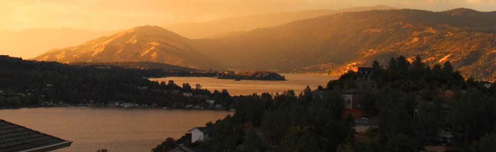 Slide – Sunset over Clear Lake